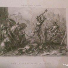 Arte: BATALLA DE LAS NAVAS DE TOLOSA. HISTORIA GENERAL DE ESPAÑA.. Lote 128348263