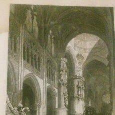 Arte: MONUMENTOS GÓTICOS. VISTA INTERIOR DE LA CATEDRAL DE BURGOS.. Lote 95366367