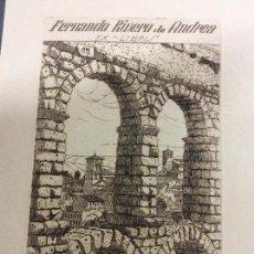 Arte: COLECCIÓN DE 44 AGUAFUERTES DE ROGELIO P VIZCAÍNO - FIRMADOS Y DEDICADOS - . Lote 95778471