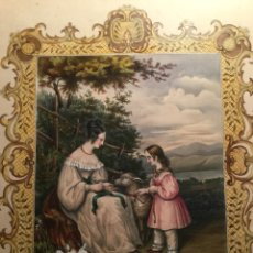 """Arte: LITOGRAFÍA ILUMINADA XIX. LEMERCIER PARÍS FRANCIA. """"LE MOUTON CHERI """". Lote 95867222"""