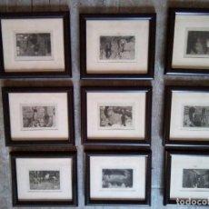 Arte: COLECCION DE 9 ANTIGUOS GRABADOS DE J TORNÉ . ILUSTRACIONES DE J. LONGORIA. Lote 95947195