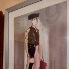 Arte: GRABADO DE JUAN ALCALDE, TORERO, HUELLA, 62X46 CM. Lote 96065890