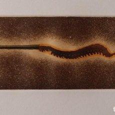 Arte: EVRU ZUSH MY BACK, AGUAFUERTE DE 1982. Lote 96100559