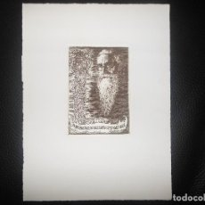 Arte: AGUAFUERTE DE CASTRO GIL LUGO GALICIA - RETRATO DE VALLE INCLAN LITERATURA - TIRADA MODERNA. Lote 96102668