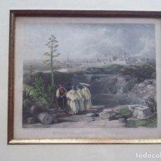 Arte: DAVID ROBERTS. RUINS OF THE ANCIENT CITY OF ITALICA. GRABADO ORIGINAL. Lote 96255055