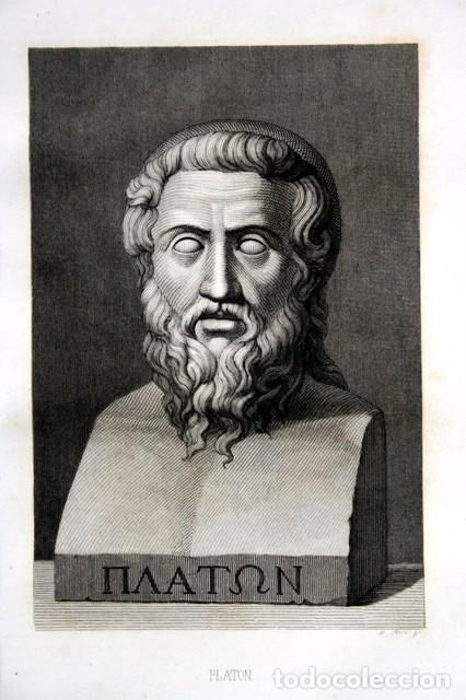 1855 - GRABADO - PLATON - 243X149MM (Arte - Grabados - Modernos siglo XIX)