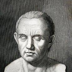Arte: 1855 - GRABADO - BUSTO ANTIGUO DE CATON - 242X150MM. Lote 96266219