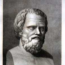 Arte: 1855 - GRABADO - SOCRATES ANTES DE MORIR ENVENEDADO - 242X151MM. Lote 96266563