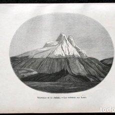 Arte: 1855 - GRABADO - PIRAMIDES DEL ILINIZA - 242X151MM - ECUADOR. Lote 96296547