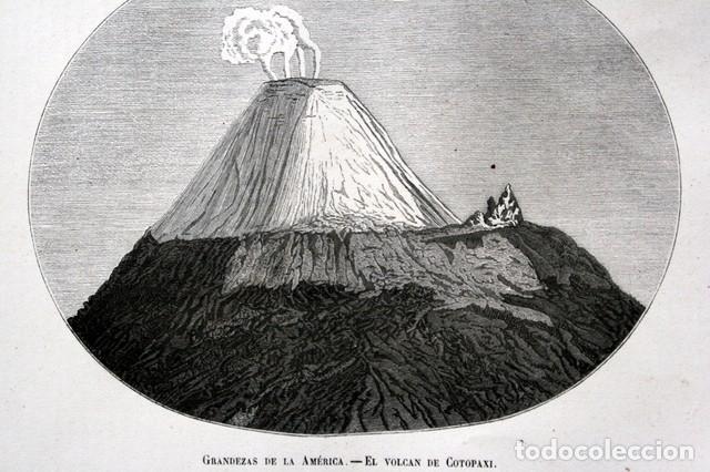 1855 - GRABADO - VOLCAN DE COTOPAXI - 242X151MM - ECUADOR (Arte - Grabados - Modernos siglo XIX)