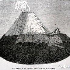 Arte: 1855 - GRABADO - VOLCAN DE COTOPAXI - 242X151MM - ECUADOR. Lote 96297447