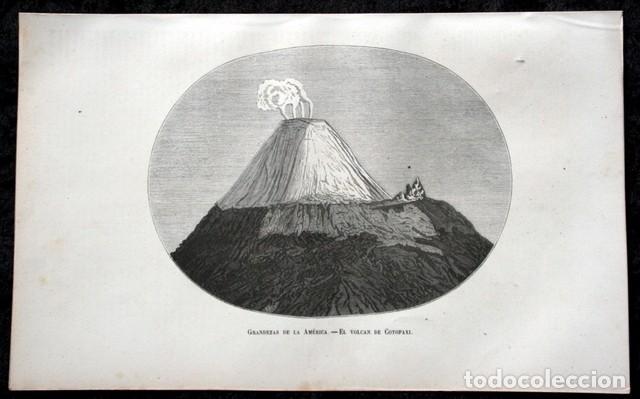 Arte: 1855 - GRABADO - VOLCAN DE COTOPAXI - 242x151mm - ECUADOR - Foto 3 - 96297447