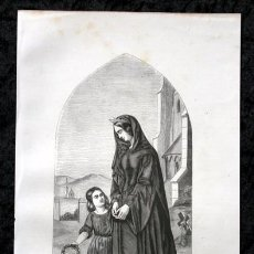 Arte: 1855 - GRABADO - JUANA LA LOCA - 242X139MM. Lote 96317639
