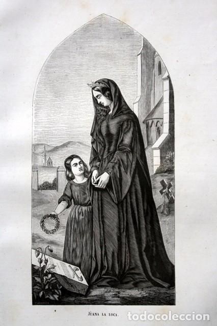 Arte: 1855 - GRABADO - JUANA LA LOCA - 242x139mm - Foto 2 - 96317639