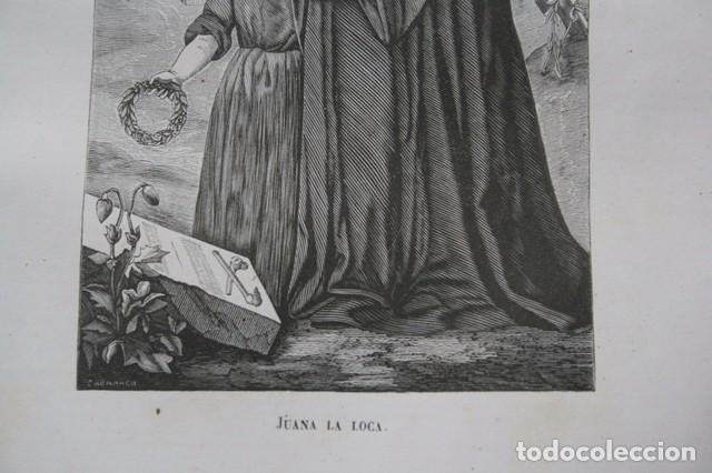 Arte: 1855 - GRABADO - JUANA LA LOCA - 242x139mm - Foto 3 - 96317639