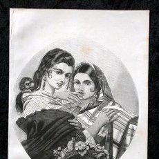 Arte: 1855 - GRABADO - TIPOS DE GITANAS - 242X153MM. Lote 96319183