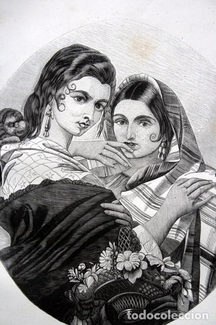 Arte: 1855 - GRABADO - TIPOS DE GITANAS - 242x153mm - Foto 2 - 96319183
