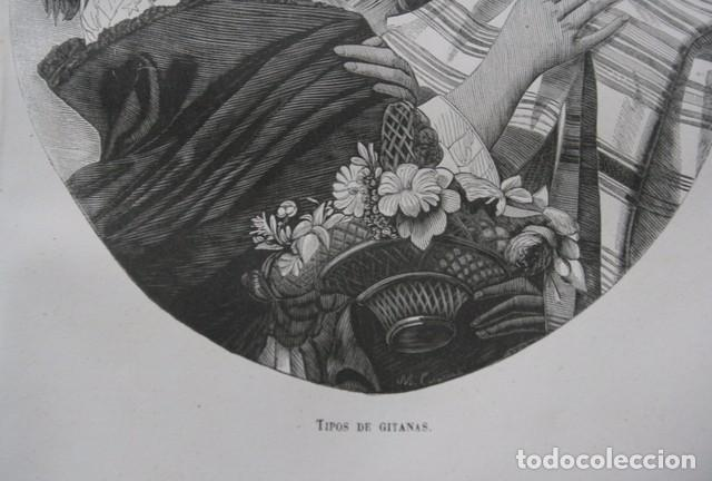 Arte: 1855 - GRABADO - TIPOS DE GITANAS - 242x153mm - Foto 3 - 96319183
