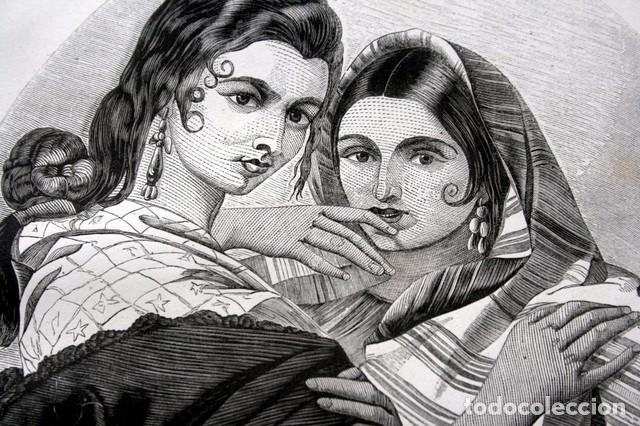 Arte: 1855 - GRABADO - TIPOS DE GITANAS - 242x153mm - Foto 4 - 96319183