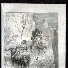 Arte: 1855 - GRABADO - DESFILADERO EN SIERRA MORENA - 242X154MM. Lote 96320003