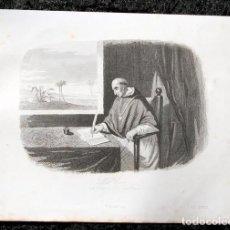 Arte: 1863 - GRABADO - BARTOLOME DE LAS CASAS - 179X141MM. Lote 96359191