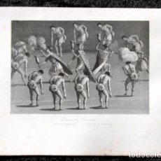 Arte: 1863 - GRABADO - DANZA DE LOS BRASILEÑOS - 180X140MM. Lote 96363619