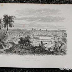 Arte: 1863 - GRABADO - RIO DE JANEIRO - BRASIL - 180X123MM. Lote 96364343