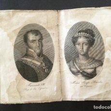 Arte: DÍPTICO CON GRABADO DE FERNANDO VII Y SU ESPOSA M. JOSEFA AMALIA. GRABADOR RAFAEL ESTEVE. S. XIX. Lote 96463975