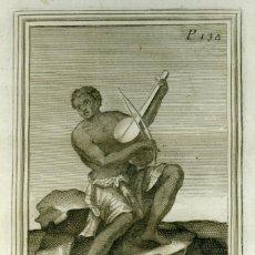 Arte: AGUAFUERTE ORIGINAL 1722. GABINETE ARMÓNICO DE GIORGIO PLACHIO . Lote 110185710