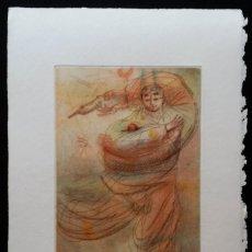 Arte: MIGUEL CONDÉ: AGUAFUERTE DE 1983, FIRMADO Y JUSTIFICADO A LÁPIZ. Lote 96782299