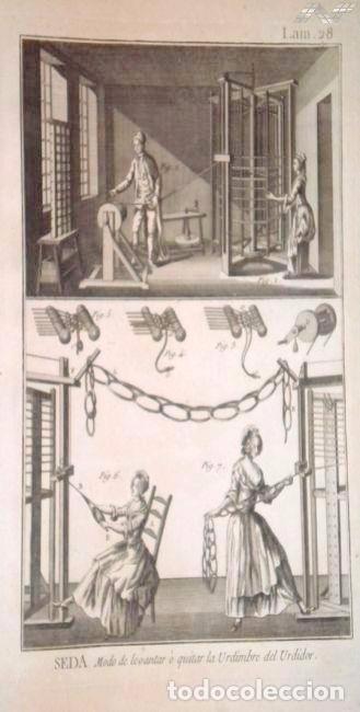 Arte: Grabados antiguos industria de Seda año 1794 colección completa de 12 distintos con certif. autent. - Foto 2 - 96956639