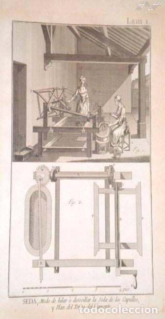 Arte: Grabados antiguos industria de Seda año 1794 colección completa de 12 distintos con certif. autent. - Foto 3 - 96956639