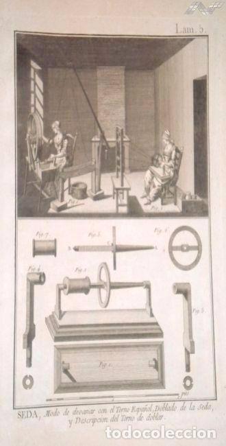 Arte: Grabados antiguos industria de Seda año 1794 colección completa de 12 distintos con certif. autent. - Foto 4 - 96956639