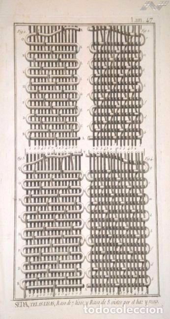 Arte: Grabados antiguos industria de Seda año 1794 colección completa de 12 distintos con certif. autent. - Foto 8 - 96956639
