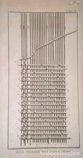 Arte: Grabados antiguos industria de Seda año 1794 colección completa de 12 distintos con certif. autent. - Foto 9 - 96956639