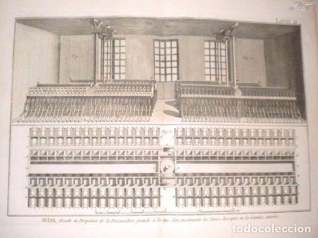 Arte: Grabados antiguos industria de Seda año 1794 colección completa de 12 distintos con certif. autent. - Foto 10 - 96956639