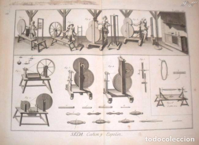 Arte: Grabados antiguos industria de Seda año 1794 colección completa de 12 distintos con certif. autent. - Foto 11 - 96956639