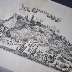 Arte: ORIGINAL GRABADO DE LA CIUDAD DE LLEIDA . Lote 97088431