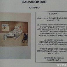 Arte: SALVADOR DALI. EL LEGADO. Lote 97142387