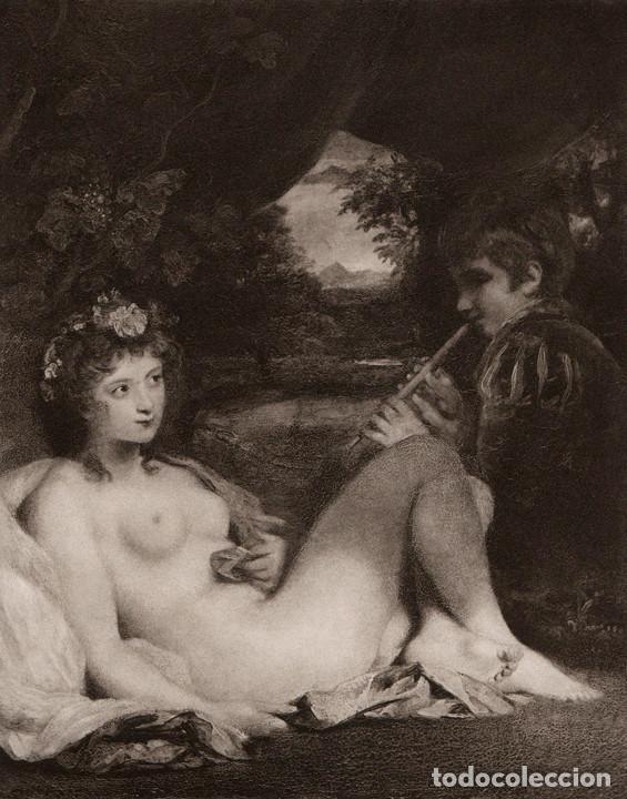 Fotograbado De Joshua Reynolds Ninfa Venus Y Sold Through