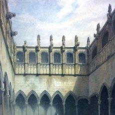 Arte: REAL AUDIENCIA DE BARCELONA. LITOGRAFIA COLOREADA. GIRAULT DE PRANGEY. CUVILLIER.FRANCIA. XIX. Lote 97222075