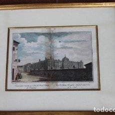 Arte: GRABADO ANTIGUO DE MADRID. VISTA ENTRE ORIENTE Y NORTE REAL DE PALACIO DE MADRID. J. GÓMEZ DEL. A.G.. Lote 117287820