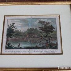 Arte: GRABADO ANTIGUO DE MADRID. VISTA DE LA REAL CASA DE CAMPO DE MADRID A LA RIVERA DEL RÍO MANZANARES.. Lote 97250427