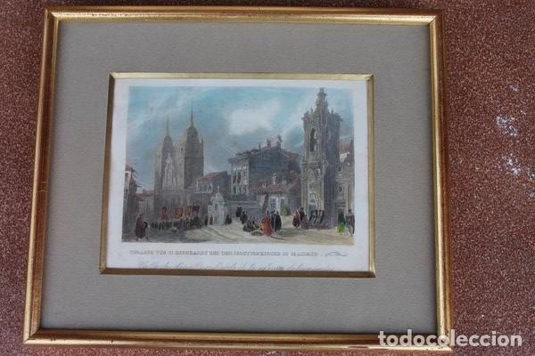 GRABADO ANTIGUO DE MADRID. CALLE DE SAN BERNARDO DE LA IGLESIA DE LOS JESUITAS. (Arte - Grabados - Antiguos hasta el siglo XVIII)