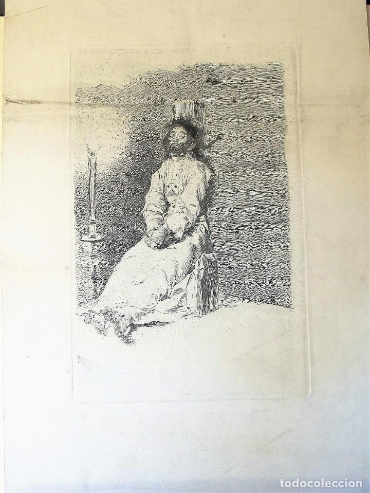 GOYA, FRANCISCO DE. GRABADO : EL AGARROTADO. AGUAFUERTE Y BURIL (Arte - Grabados - Modernos siglo XIX)