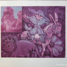 Arte: DIMITRI PAPAGUEORGUIU. GRABADO. 52,5 CM X 70 CM. ÉPOCA AZUL. GRECIA-MADRID.. Lote 97410331