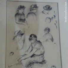 Arte: RENOIR ,GRABADO, PUNTA SECA, SELLADO. Lote 67780137