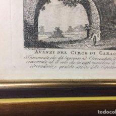 Arte: GRABADO ITALIA ARCO ENTRADA CIRCO CARACALLA RUINA RUINAS A. FRANZETTI S XIX N 30 20,5X25,5CMS. Lote 97605971