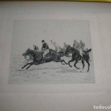Arte: BONITO GRABADO DE EQUITACION CARRERAS DE CABALLOS . Lote 97782259