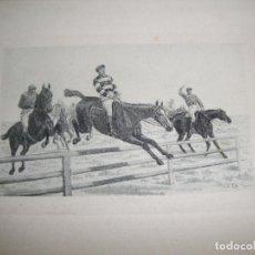 Arte: BONITO GRABADO DE EQUITACION CARRERAS DE CABALLOS . Lote 97782299